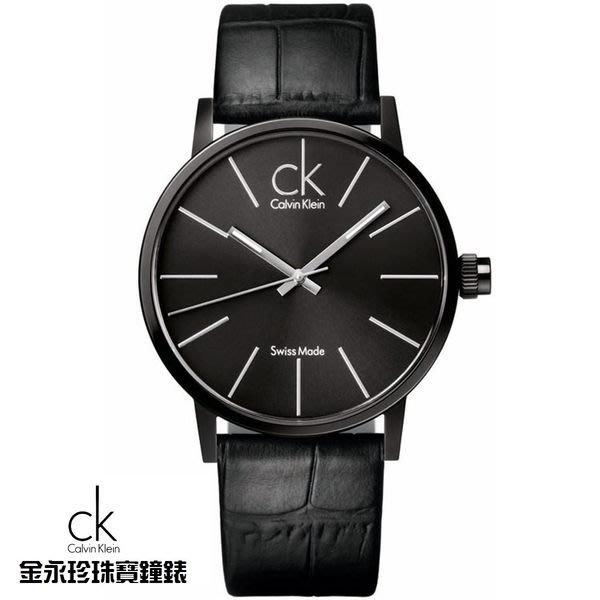 金永珍珠寶鐘錶*CK手錶Calvin Klein 原廠真品 IP電鍍黑面 限量 對錶  K7621401 生日 禮物 送鍍膜*