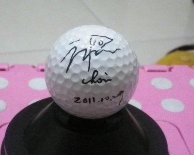 棒球天地--LPGA高爾夫球台灣賽南韓崔蘿蓮최나연簽名球.加簽開幕日期2011-10-27.字跡漂--1