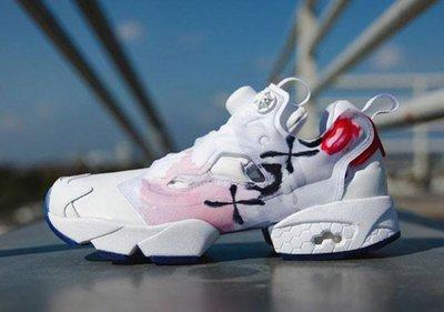 Reebok INSTA-PUMP-FURY XO Celebrate V69142情人節唇印塗鴉白紅粉紫男女情侶慢跑鞋
