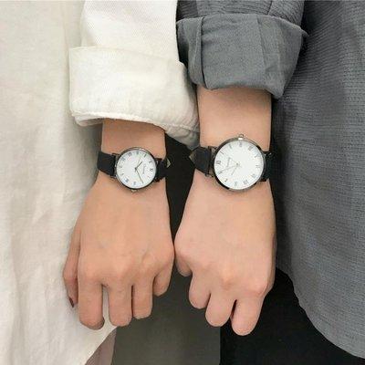 999VINTAGE手錶女學生簡約韓版潮流ULZZANG復古情侶款一男錶一女一對CY下單後請備註顏色尺寸