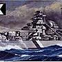 日本正版 田宮 1/ 350 No.13 德國戰艦 BISMA...