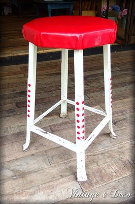 **Vintage & Deco 復古。飾**美國古董高腳鐵椅 [CHAIR-0071] 二手 古董家具 椅子 古董椅