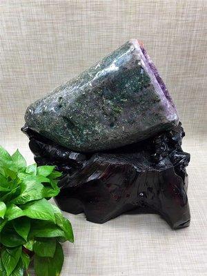 巴西紫晶洞錢袋子 紫水晶洞 外皮拋光打磨 原石無水泥