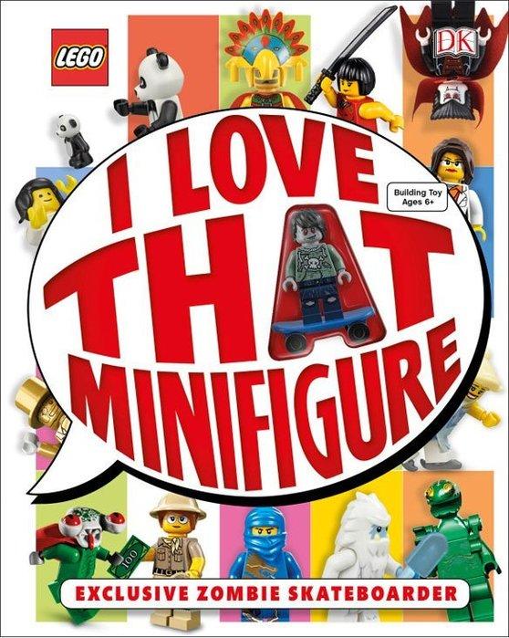 英國購入【LEGO 樂高】 I LOVE THAT MINIFIGURE: 207頁 人物百科全書 含人偶: 殭屍滑板男