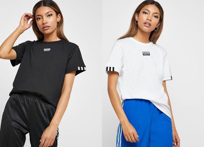 JMX adidas T-Shirt W 女 短袖T恤 黑 ED5842 白 ED5844