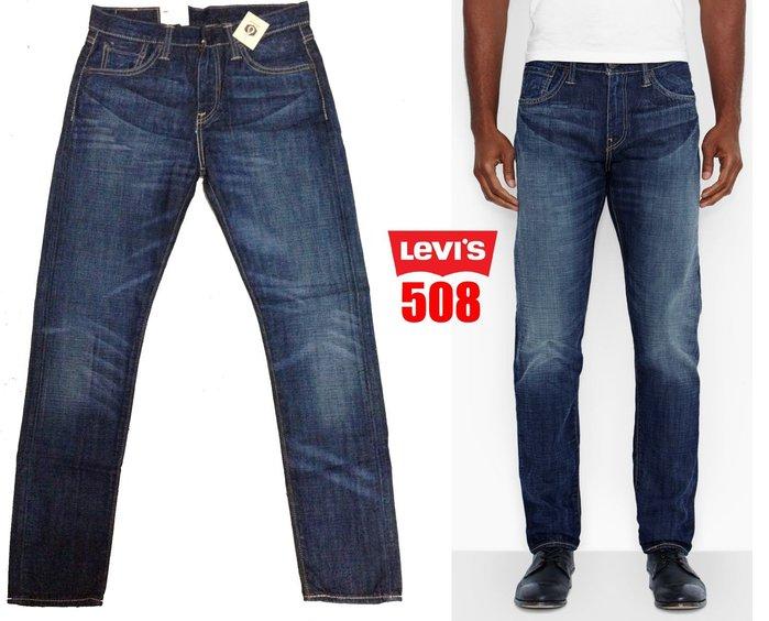 【 超搶手 】全新正品美國 Levis 508 0039 Quincy 合身牛仔褲 石洗刷紋 深藍 W28~W38