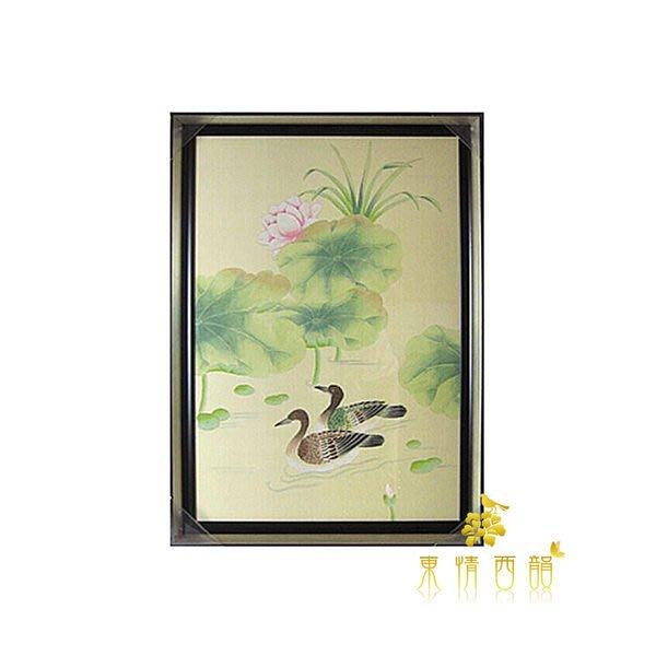 【芮洛蔓 La Romance】東情西韻系列手繪鴛鴦荷花畫-02 / 壁畫/壁飾