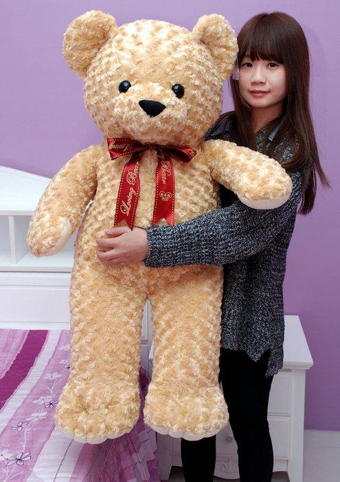 超大泰迪熊娃娃~玫瑰熊娃娃~高100公分~毛質超柔軟~生日情人禮物~全省配送