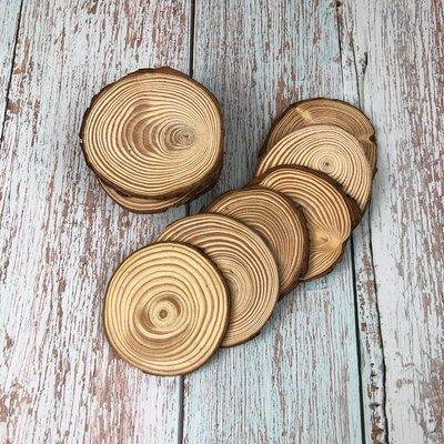 BEAGLE  現貨-約7-8CM,厚度:0.5CM 擺件 底座 小圓木 圓木片 實木片 松木 苔蘚微景觀飾品 10送1