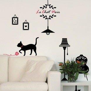 小妮子的家@玩耍貓壁貼/牆貼/玻璃貼/汽車貼/安全帽貼/磁磚貼/家具貼