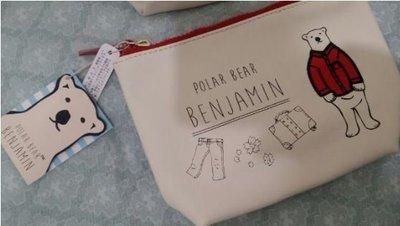 全新 POLAR BEAR BENJAMIN 北極熊穿外套 萬用包 化妝包