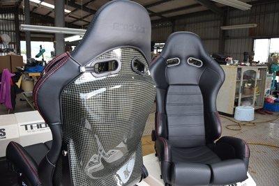 PRODRIVE  功夫龍碳纖維小牛皮可調賽車椅尺寸XL坐起來不會有壓迫感   RECARO BRIDE