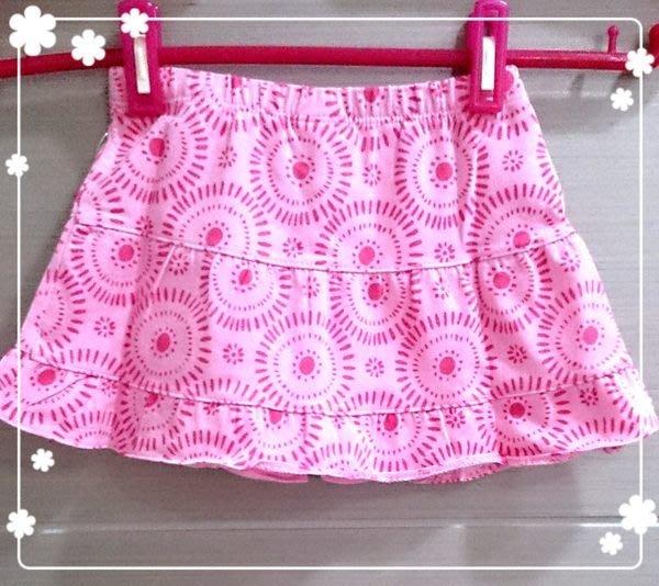 【Nichole's歐美進口優質童裝】Old navy女童粉紅雛菊短裙12-18M*另有Carter's/OshKosh