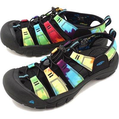 =CodE= KEEN NEWPORT RETRO SANDALS 編織彈性綁繩護趾防水包頭涼鞋(黑彩虹)1018804