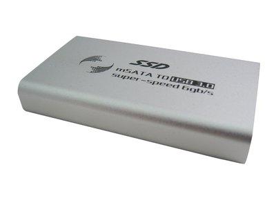 SAFEHOME mSATAII 轉 USB3.0 外接SSD硬碟外接盒 HE3mS01