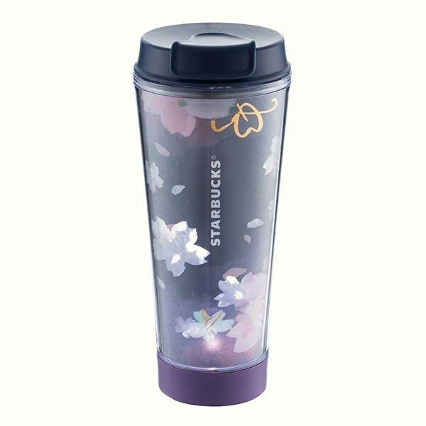Starbucks 星巴克限量2018 夜櫻燦燦LED隨行杯 (買1送1麝香貓咖啡濾掛式特製款)