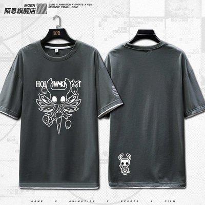 Hollow Knight空洞士周衣服青少年男女拼色短袖T恤上衣潮