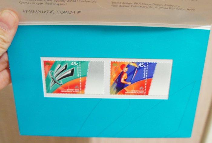出清特賣 - (全新)澳洲-Paralympic Torch -套票護卡(郵票)