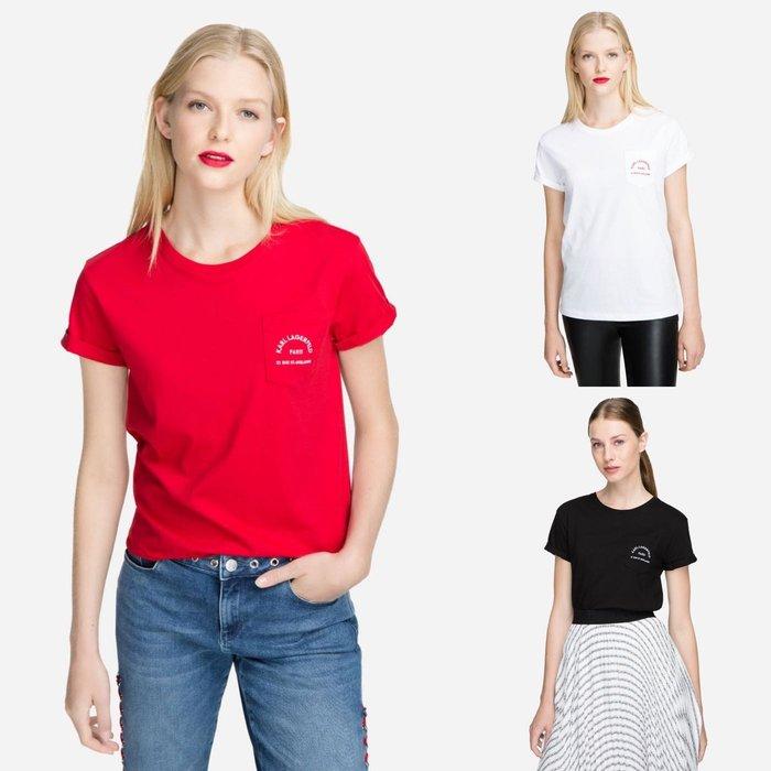 [預購XS-L] Karl Lagerfeld 女成卡爾logo短袖T恤 白/黑/綠三色 運費優惠 其他尺寸款式可留言詢問