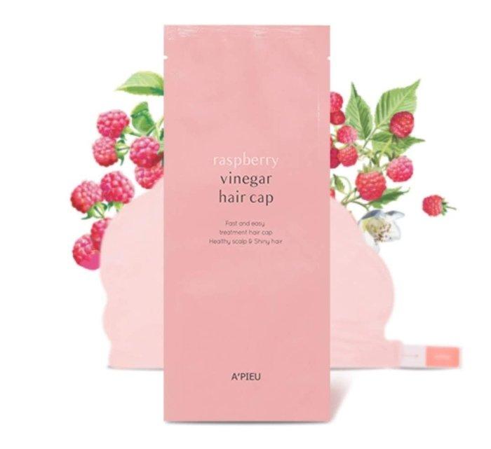 🍓在台現貨🍓韓國 A'PIEU 蔓越莓果醋護髮帽 35G