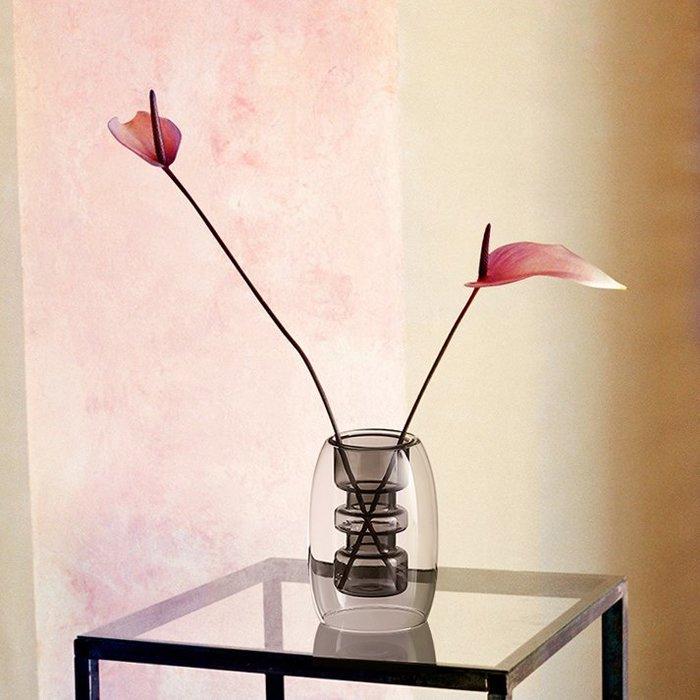 MAJPOINT*雙層玻璃 花瓶 花器 北歐 插花 園藝 庭院 法式 擴香瓶 輕奢華 攝影 復古大氣典雅造型 簡約風家具