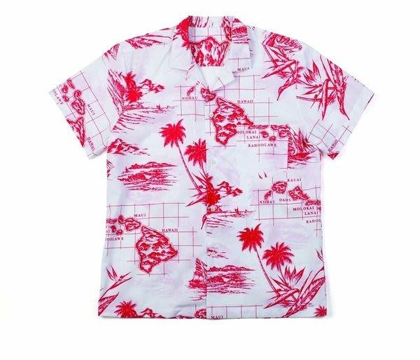 [CABA'S滑板店] BRIXTON ISLAND WHITE/RED 襯衫│正規代理授權.可貨到付款