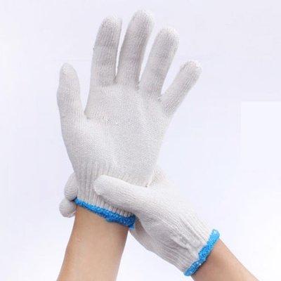 勞保防護手套加厚白尼龍棉紗線手套耐磨工作勞動細紗手套批發