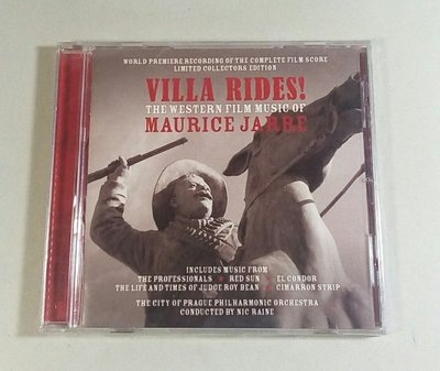 """自由戰火Villa Rides! The Western Film..""- Maurice Jarre,全新歐版,82"