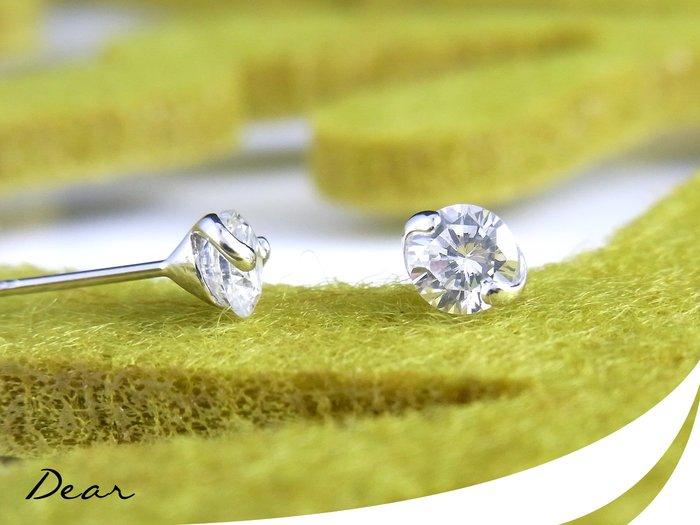◎【 Dear Jewelry 】◎ 韓風單鑽14K金耳環│生日禮物、送禮自用皆可-免運