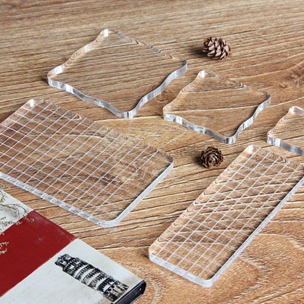 《Jami Honey》【JC2608】DIY日記印章配件壓克力板 (7.5*7.5cm)