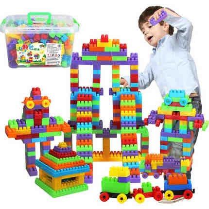兒童顆粒塑料拼搭積木3-8幼兒園早教益智拼搭玩具積木3-6周歲玩具