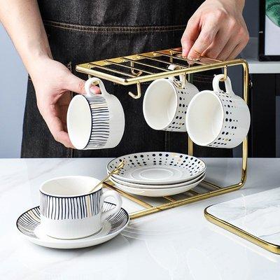 有一間店-咖啡杯歐式小奢華套裝 高檔花茶杯陶瓷下午茶鐵具配杯架子甜點茶(規格不同 價格不同)