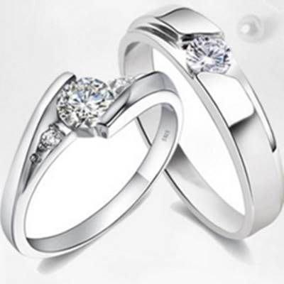 925純銀戒指 鑲鑽情侶對戒-質感精緻情人節生日禮物男女配件 銀飾(單件)73af36 [獨家進口][米蘭精品]