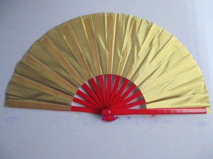 艾蜜莉舞蹈用品*舞蹈扇*金蔥色紅木骨功夫扇/舞蹈扇$150元