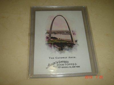 美國職棒 聖路易斯拱門 大拱門 Gateway Arch 2008 Topps A & G  球員卡