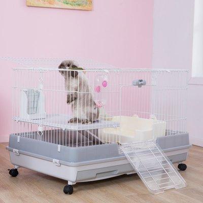 熱賣折扣 兔籠riyoka瑞友家兔籠子定制灰特大號家用兔子屋別墅防噴尿兔子籠1米
