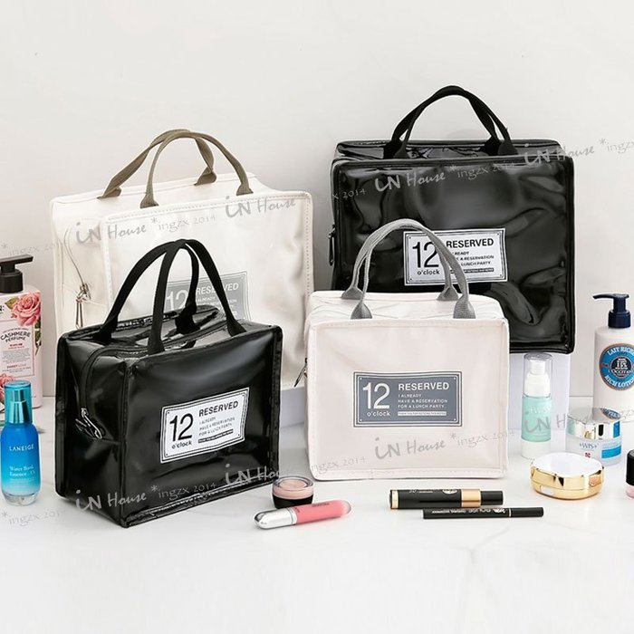 IN House*小- 現貨 hangbag 韓版防水手提包 洗潄包 化妝包 保溫包 便當袋 大容量旅行收納包