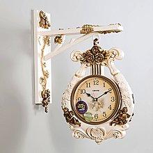 〖洋碼頭〗歐式雙面掛鐘客廳兩面鐘壁掛家用時尚美式時鐘石英鐘豪華古典鐘錶 xtm116