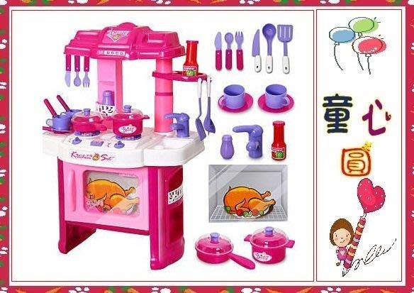 多功能廚房廚具組合(粉色) 辦家家酒玩具辦家家酒玩具◎童心玩具1館◎