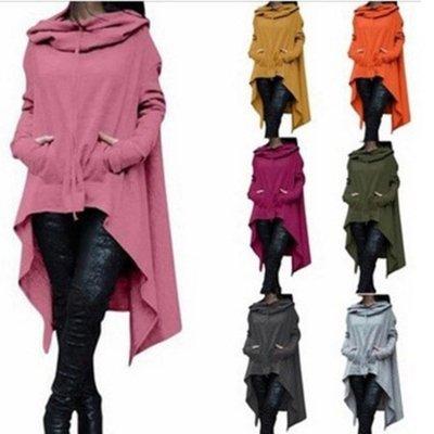妮妮韓國服飾店~Qiu dong is pure color long hooded fleece color code