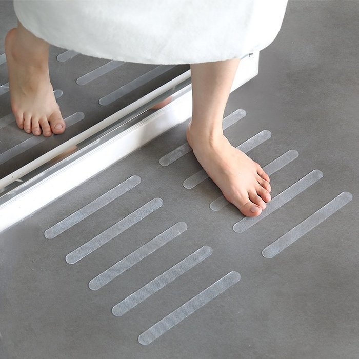 5條裝防滑貼透明地墊廚房泳池浴缸樓梯臺階膠帶浴室防滑條防滑墊