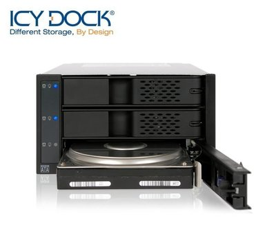 {MPower} 台灣名廠 ICY Dock MB973SP-1B 專業級 3 Bay SATA SAS HDD SSD Mobile Rack (免工具) - 原裝行貨