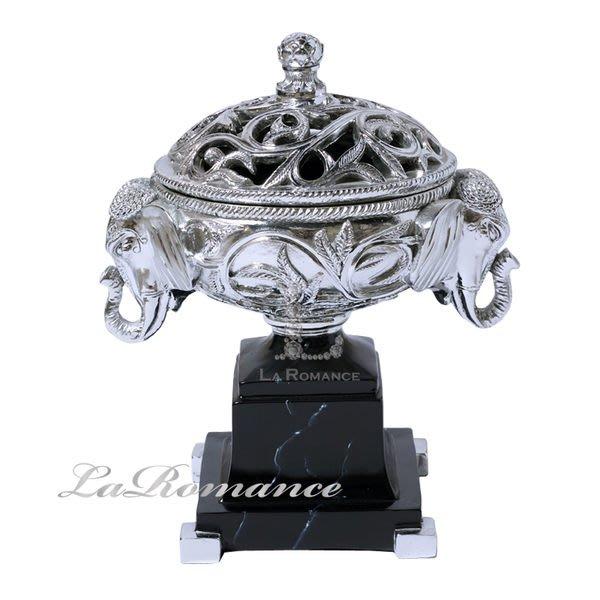 【芮洛蔓 La Romance】大象含蓋置物盒 - 亮銀 / 收納 / 玄關