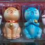 東大居家-出清商品波麗彩繪六福貓六色招財貓六入一組
