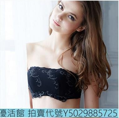 【優活館】 抹胸式防滑上托一字領露肩防走光裹胸Eb14362