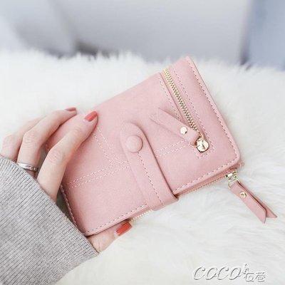 短夾 女士錢包女短款新款韓版學生折疊多功能手拿包小錢夾