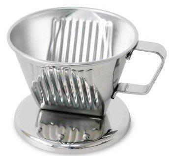 ~* 品味人生*~ 贈咖啡量匙 寶馬1~2杯滴漏式不鏽鋼咖啡濾器 TA-S-101-ST