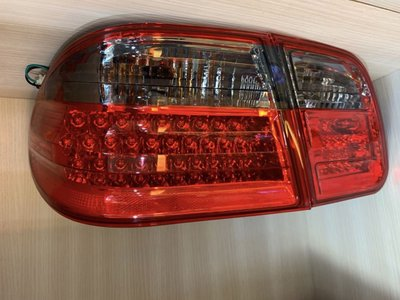 ☆小傑車燈家族☆全新外銷高品質賓士BENZ W210 紅黑晶鑽 內外側全LED 尾燈4片一組