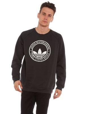 現貨S * Adidas ORIGINALS PITTED CREW 愛迪達LOGO 黑色大學T 長袖棉T 衛衣 上衣