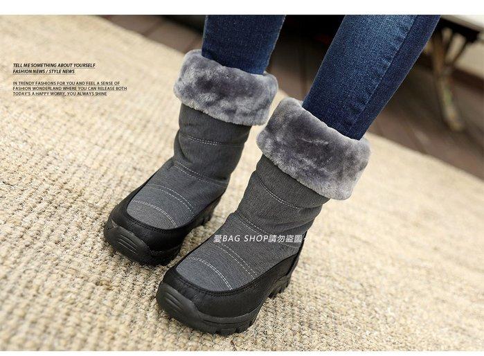 愛 BAG SHOP 韓包專賣東大門連線 韓國製內鋪棉 防潑水防滑橡膠底可翻面中統 雪靴 1190 共二色